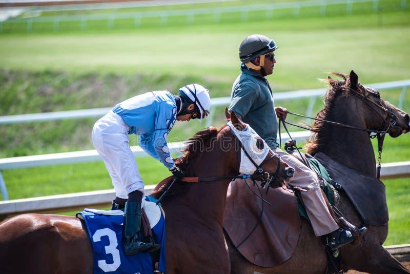 Racecourse - Keeneland Jockey. Keeneland Racetrack, early one spring morning, in Kentucky royalty free stock photo