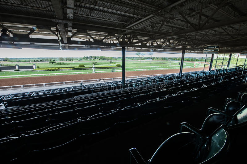 Racecourse - Keeneland. Keeneland Racetrack, early one spring morning, in Kentucky royalty free stock photography
