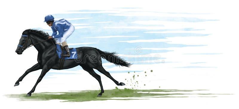 Download Racehorse stock illustration. Illustration of fast, race - 27673799