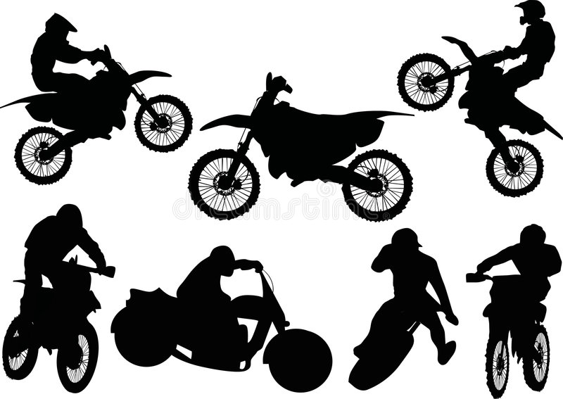 Racer silhouettes collection vector illustration