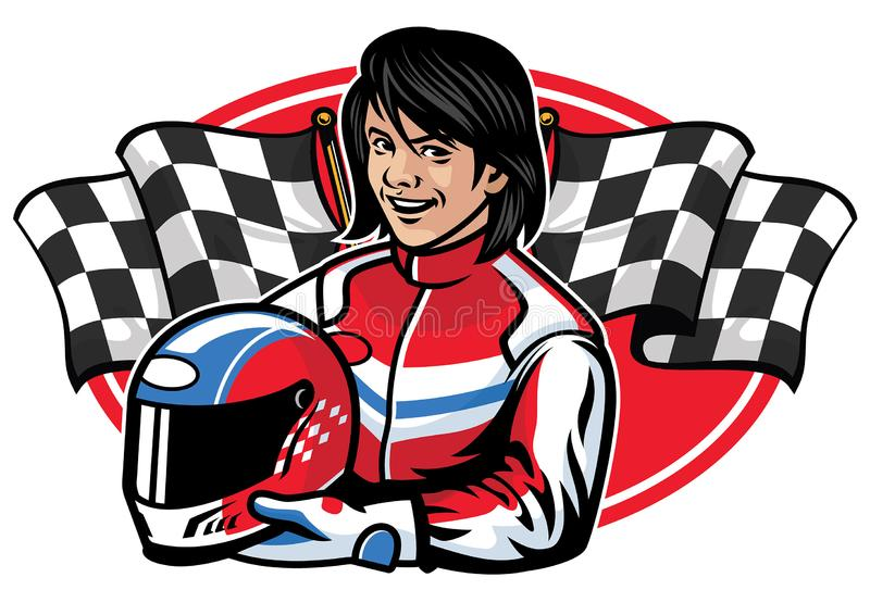 Racer woman design stock illustration