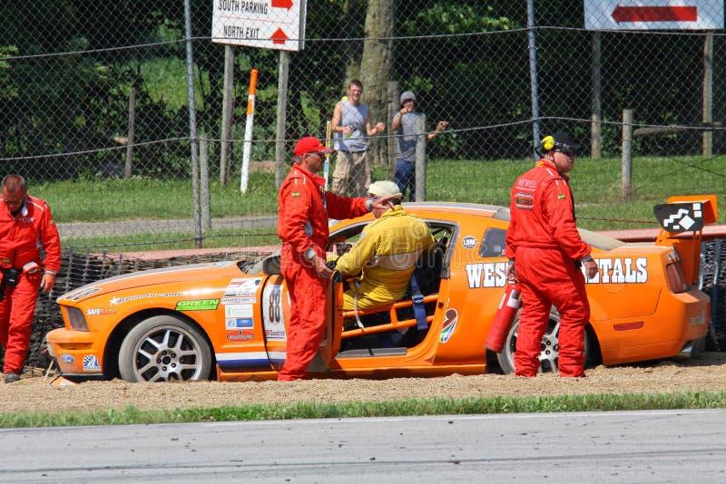 racerbil av spåret arkivbilder