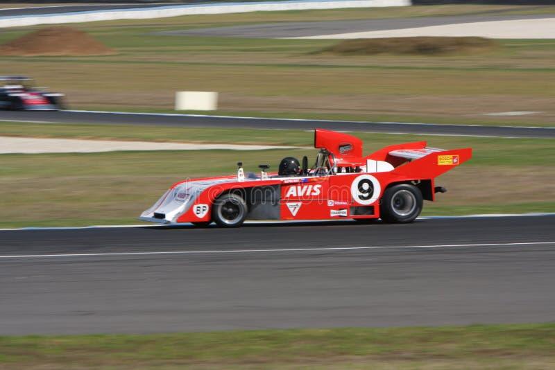 Racerbil för formel 5000 på Phillip Island Classic 2017 royaltyfri foto