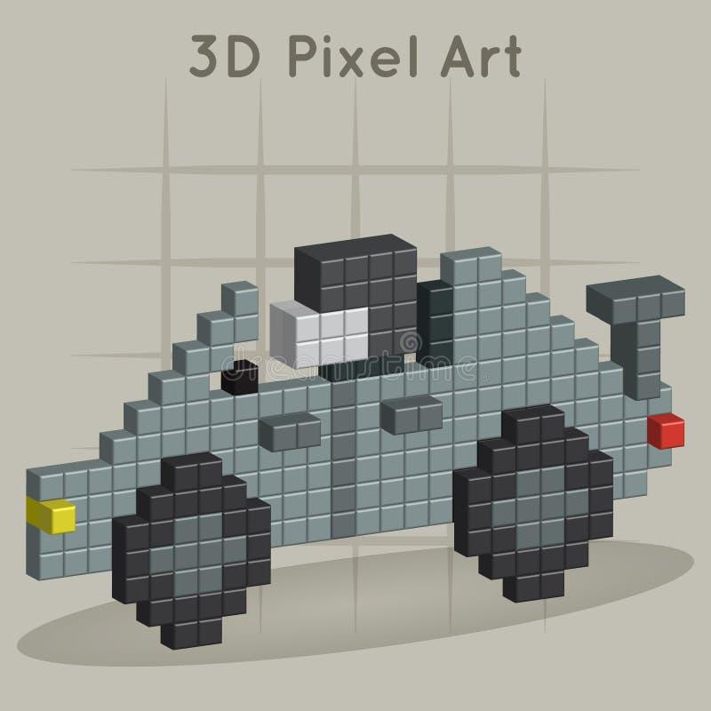 Racerbil. konst för PIXEL 3D vektor illustrationer