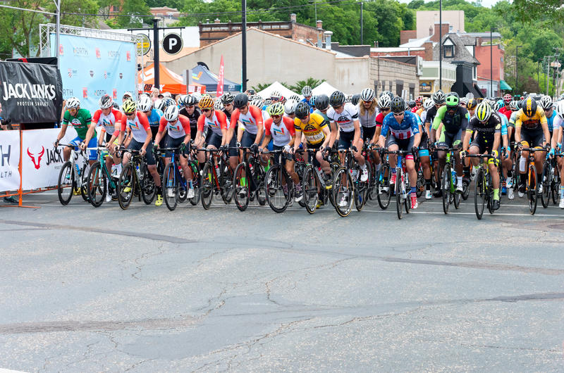 Racers Take Off at North Star Grand Prix stock image