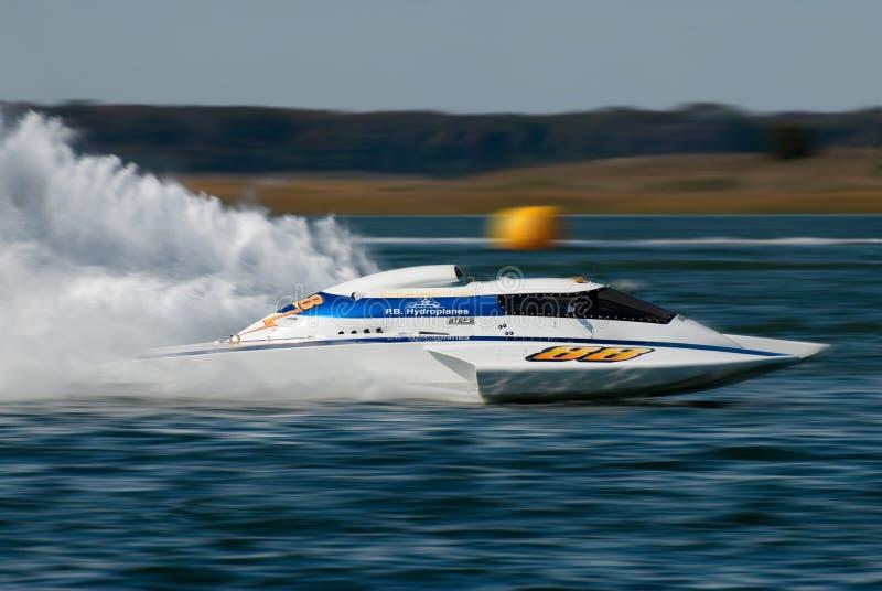 racespeedboat royaltyfria bilder