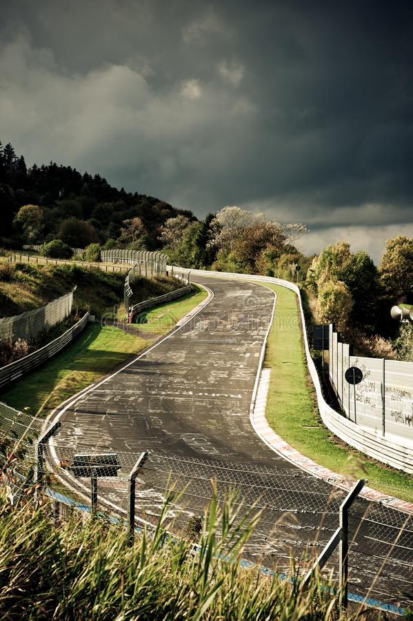 Racetrack. Nürburgring Nordschleife Racetrack in Germany royalty free stock images