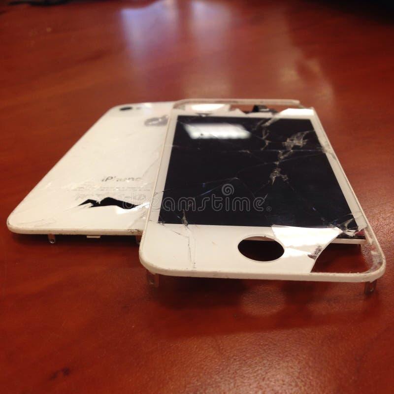 Rachado fixo do reparo da tela de Iphone fotos de stock royalty free