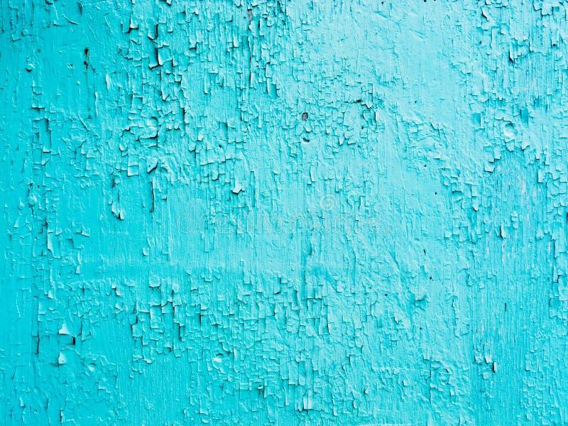 Rachado sujo e lascar-se do fundo azul da pintura fotos de stock