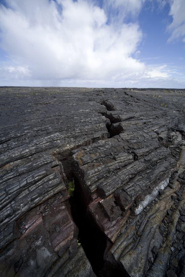 Rachadura 9797 da lava imagens de stock
