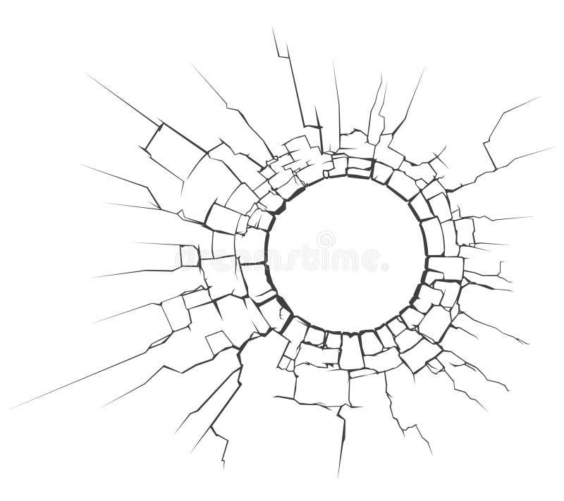Rachadura do círculo ilustração stock