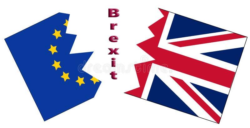 Rachadura do Reino Unido e da UE devido a Brexit fotos de stock royalty free