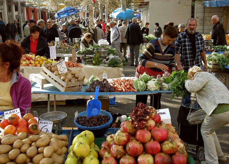 Rache o mercado 1 (da Croácia) imagens de stock