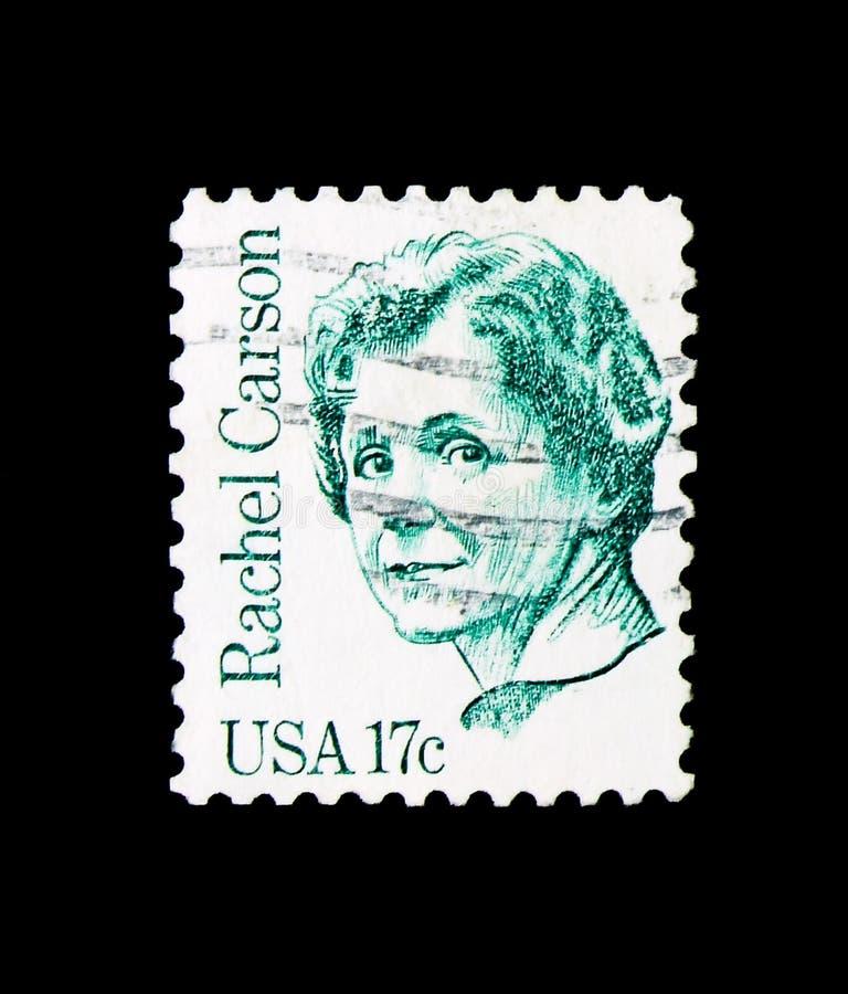 Rachel Carson, Grote Amerikanen serie, circa 1981 stock fotografie