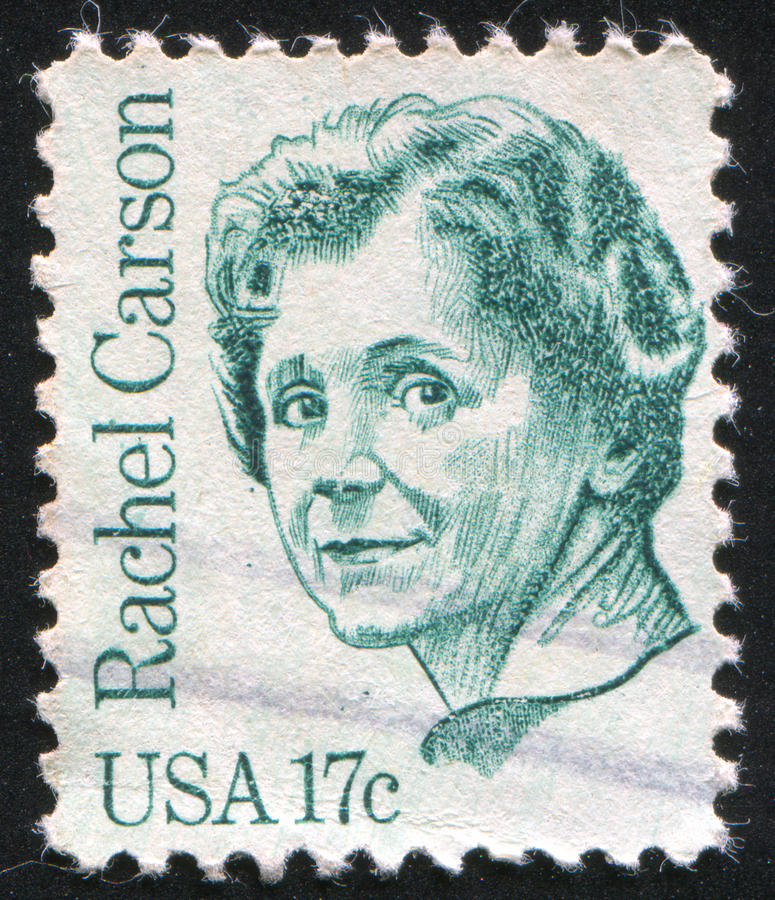 Rachel Carson. UNITED STATES - CIRCA 1980: stamp printed by United states, shows Rachel Carson, circa 1980 stock photo