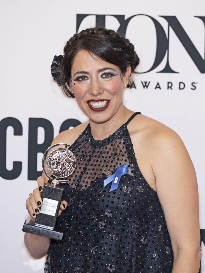 Rachel Chavkin Celebrates Win em Tony Awards 2019 fotografia de stock royalty free