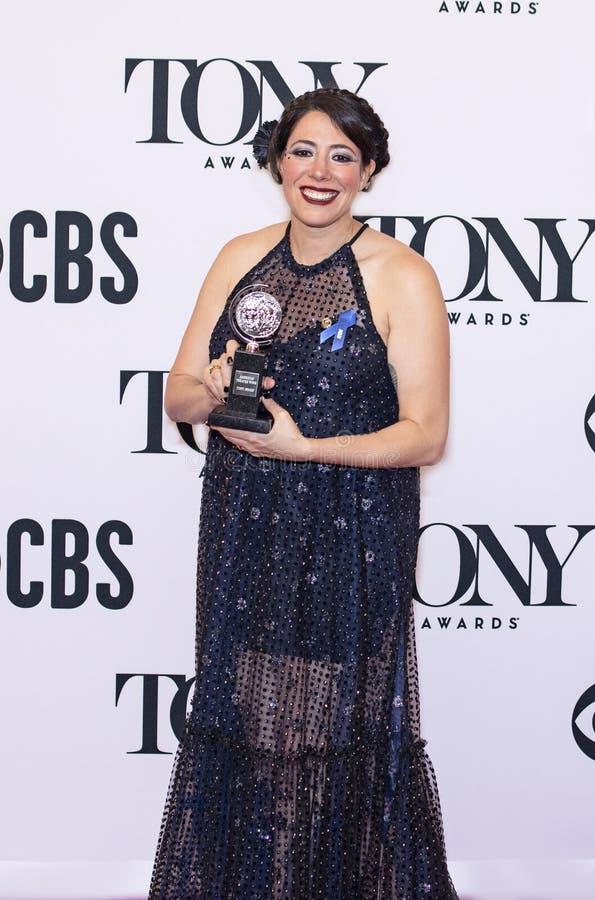 Rachel Chavkin Celebrates Win em Tony Awards 2019 imagens de stock