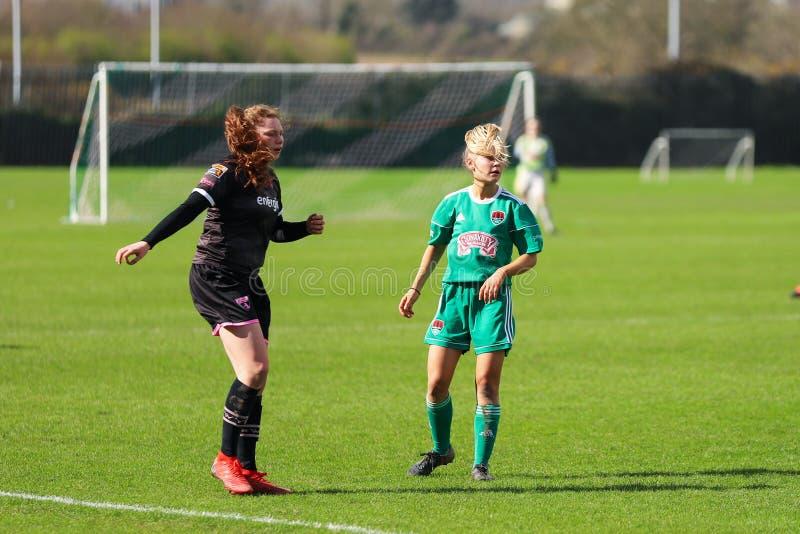 Rachel O Regan pendant le match de ligue national des femmes entre les femmes de Cork City FC et le Wexford Youths photo stock