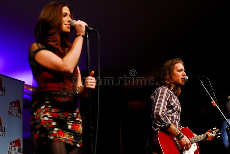 Rachel Reinert and Tom Gossin of Gloriana royalty free stock photos