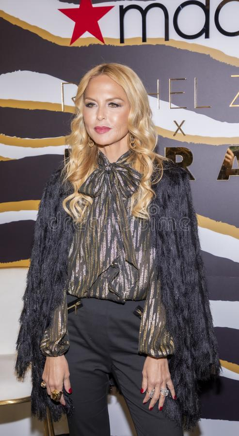 Rachel Zoe at Macy`s Herald Square. New York, NY, USA - December 3, 2019: Rachel Zoe attends the launch of her new beauty collection with LORAC at Macy`s Herald royalty free stock photography