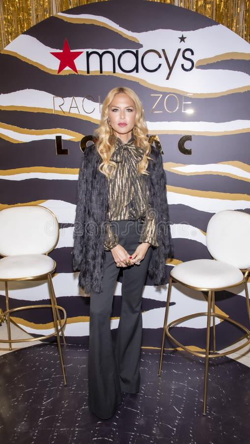 Rachel Zoe at Macy`s Herald Square. New York, NY, USA - December 3, 2019: Rachel Zoe attends the launch of her new beauty collection with LORAC at Macy`s Herald stock photo