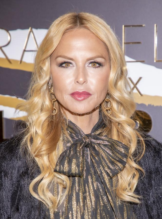 Rachel Zoe at Macy`s Herald Square. New York, NY, USA - December 3, 2019: Rachel Zoe attends the launch of her new beauty collection with LORAC at Macy`s Herald royalty free stock photo