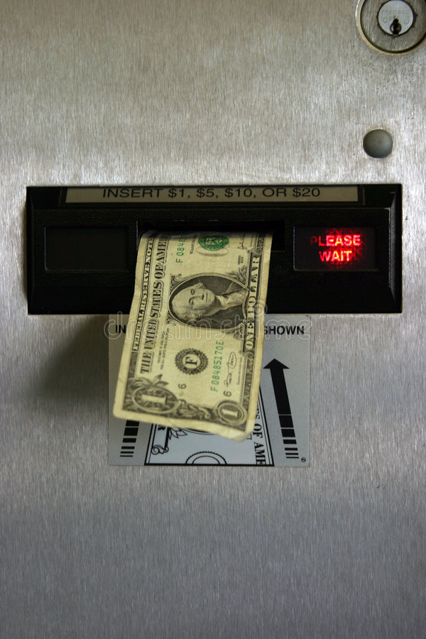 rachunek zmiany dolara maszyna obraz royalty free