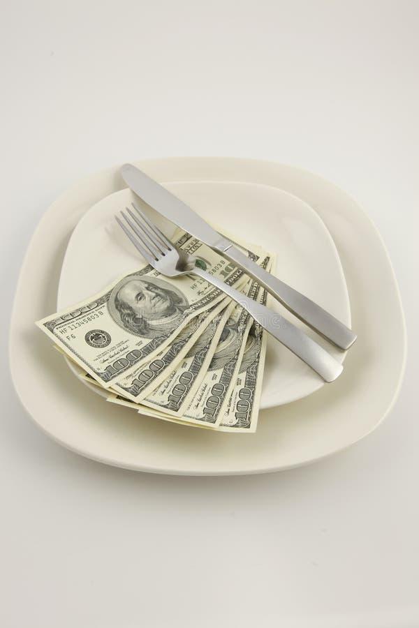 rachunków dolara pięćset talerz zdjęcie royalty free