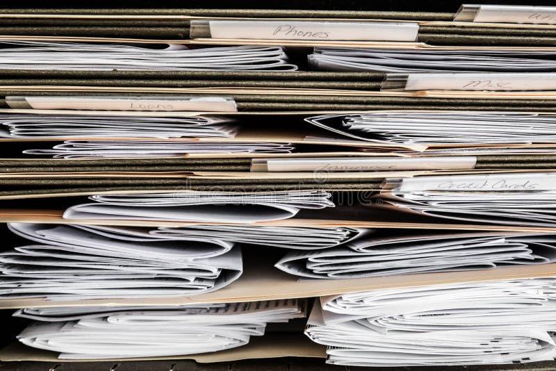 Rachunków oświadczenia i papiery obraz stock