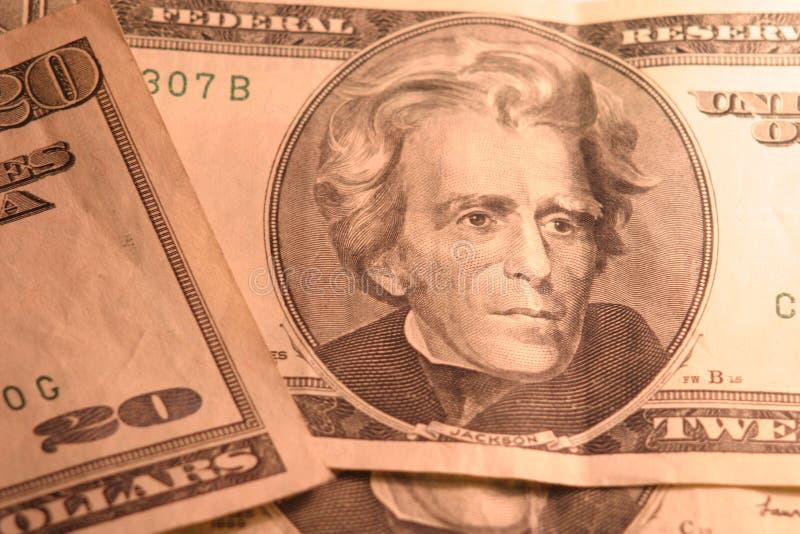 rachunki 20 dolarów zdjęcie stock