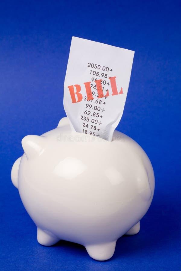 rachunki bankowych świnka obraz royalty free