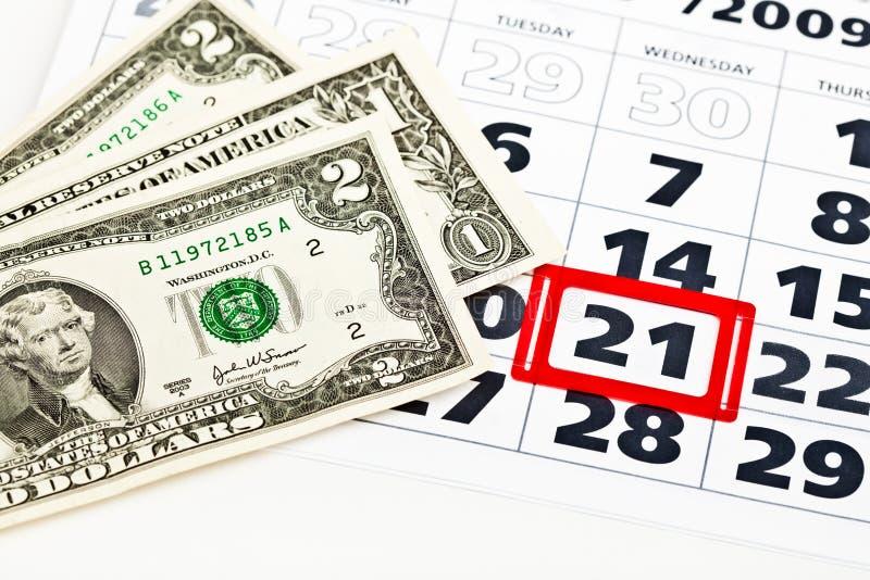 rachunki porządkują dolara obraz stock