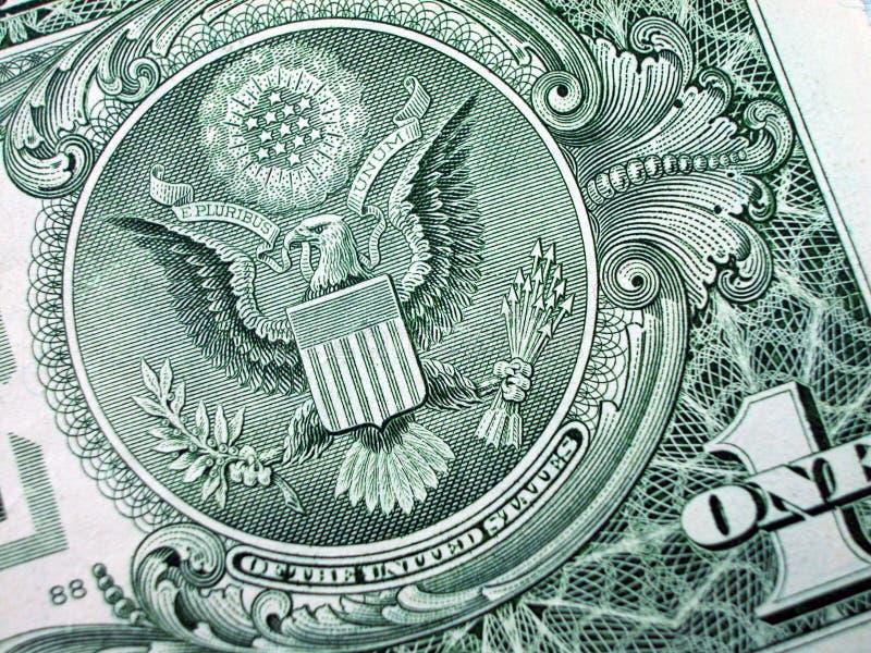 rachunku orła jeden dolarów wielką pieczęć obrazy royalty free