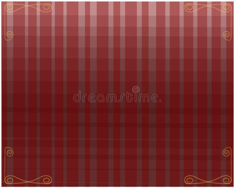 Racimo abstracto de rectángulos alargados transparentes ilustración del vector