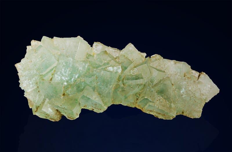 Racimo de cristales naturales de la sal imágenes de archivo libres de regalías