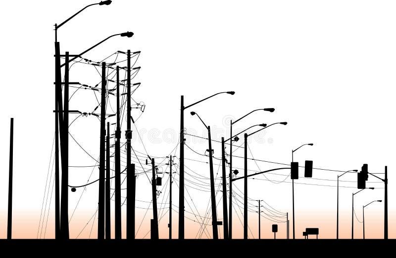 Racimo de la luz de calle ilustración del vector