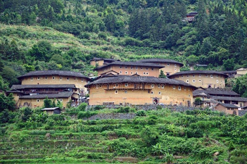 Racimo de Tianluokeng Tulou imagenes de archivo