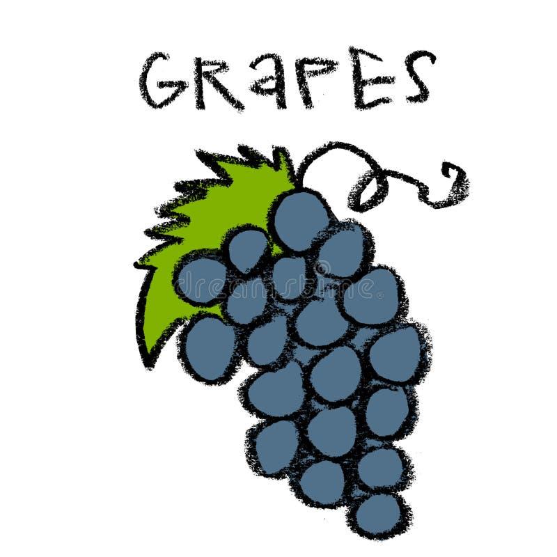 Racimo de uvas stock de ilustración