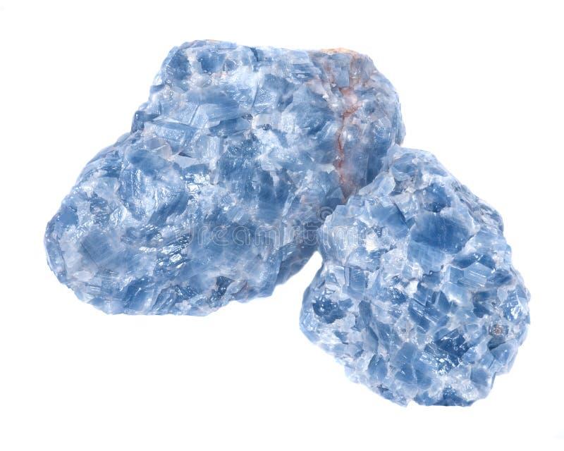 Racimos azules crudos de la calcita imagen de archivo libre de regalías