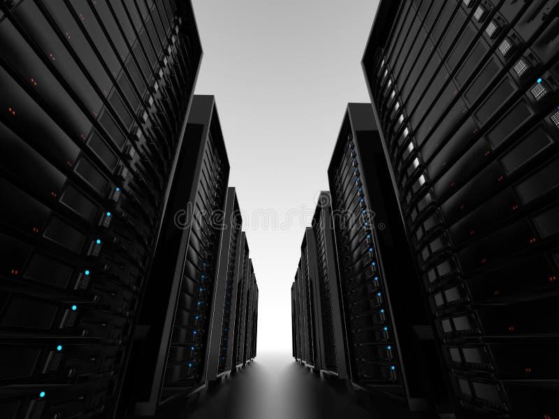 Racimos de servidor del centro de datos ilustración del vector