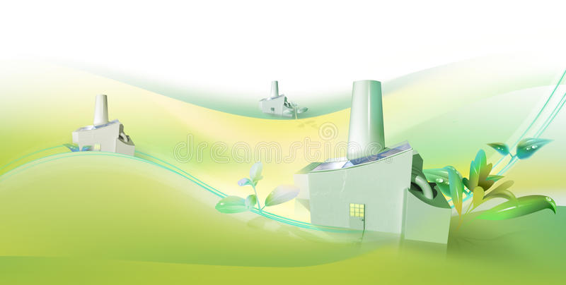 Racimos verdes de la tecnología ilustración del vector