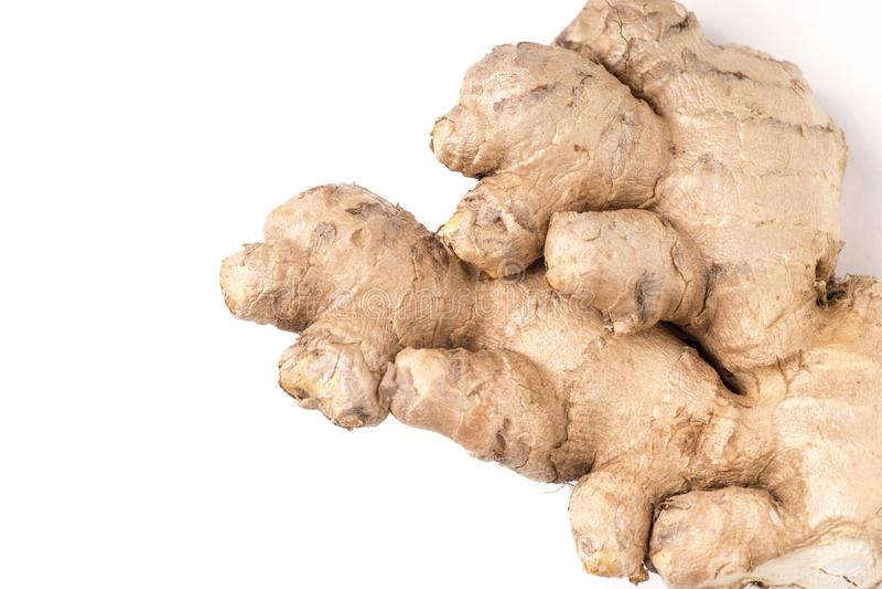 Racine saine organique de gingembre images stock