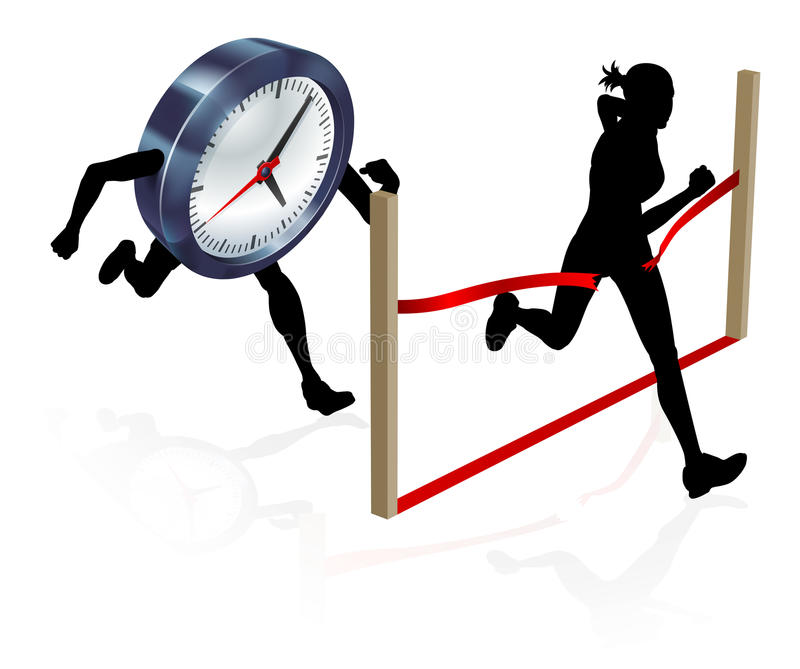 Racing Against the Clock royalty free illustration