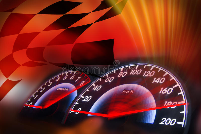 Racing Background Abstract Speedometer Baground Banner
