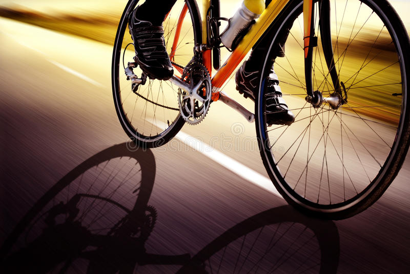 Racing bike. On the street royalty free stock images