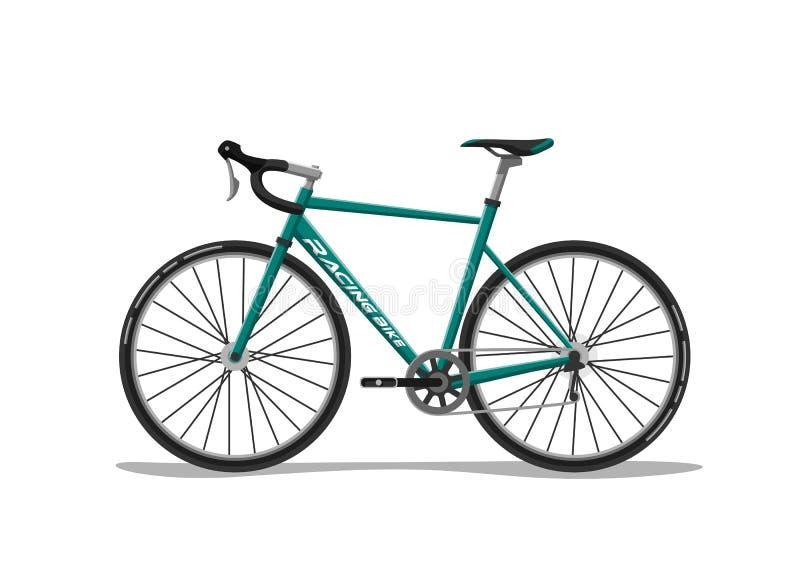 Racing Bike On White Background royalty free illustration