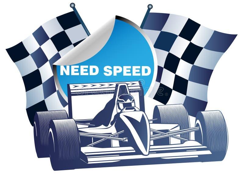 Racing car stock illustration
