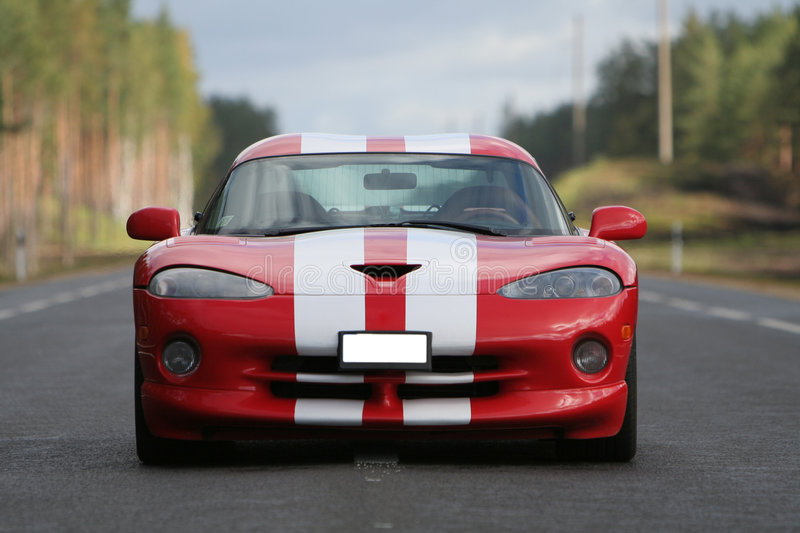 Racing car. Ready for speed on new highway stock images