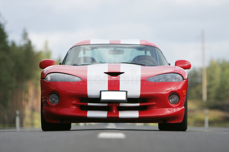 Racing car. Ready for speed on new highway royalty free stock image