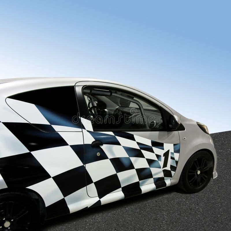 Racing car. Small racing car with grand prix decoration stock photography